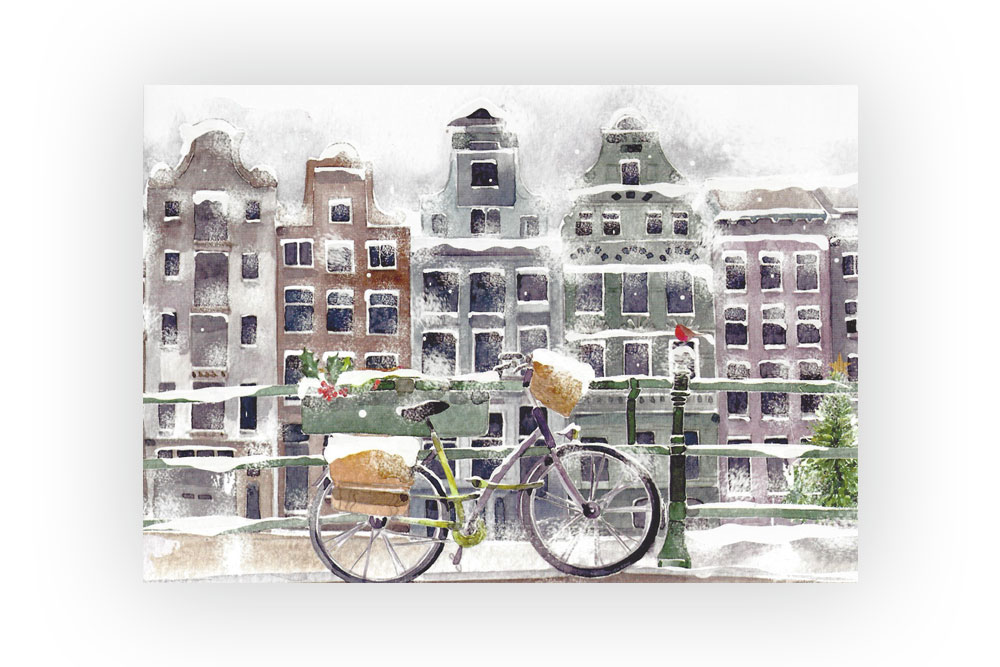 Amsterdam Bicycle Christmas Cards x 8