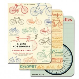 Set of 3 Vintage Bicycle Notebooks