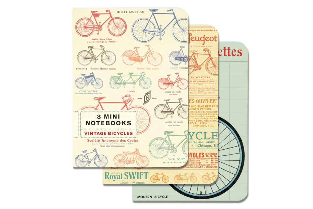 Set of 3 Vintage Bicycle Notebooks
