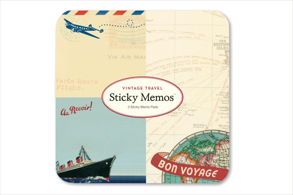 Vintage Travel Sticky Memos