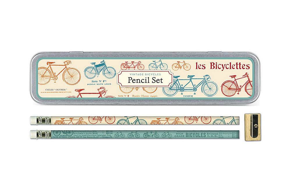 Vintage Bicycles Pencil Set