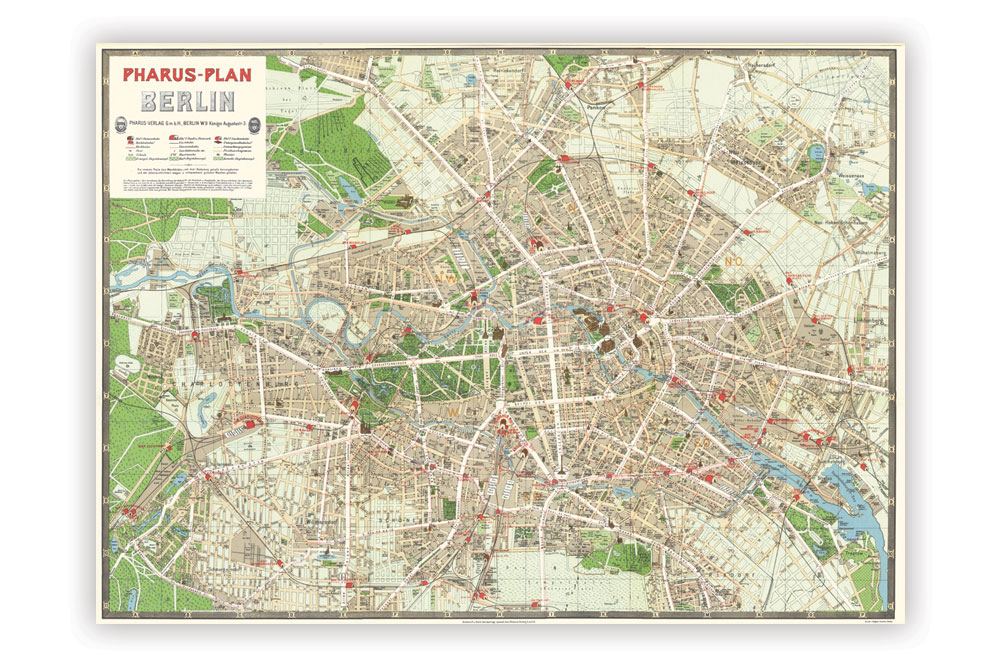 Map of Berlin Wrapping Paper