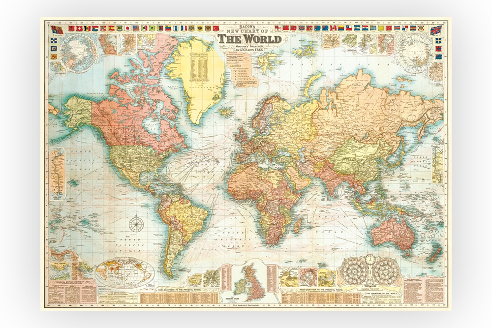 Map of the World Wrapping Paper