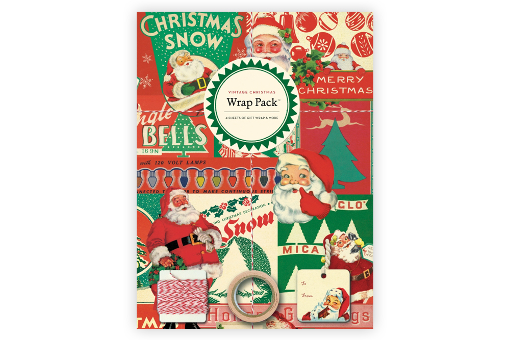 Vintage Christmas Bicycle Wrap Pack