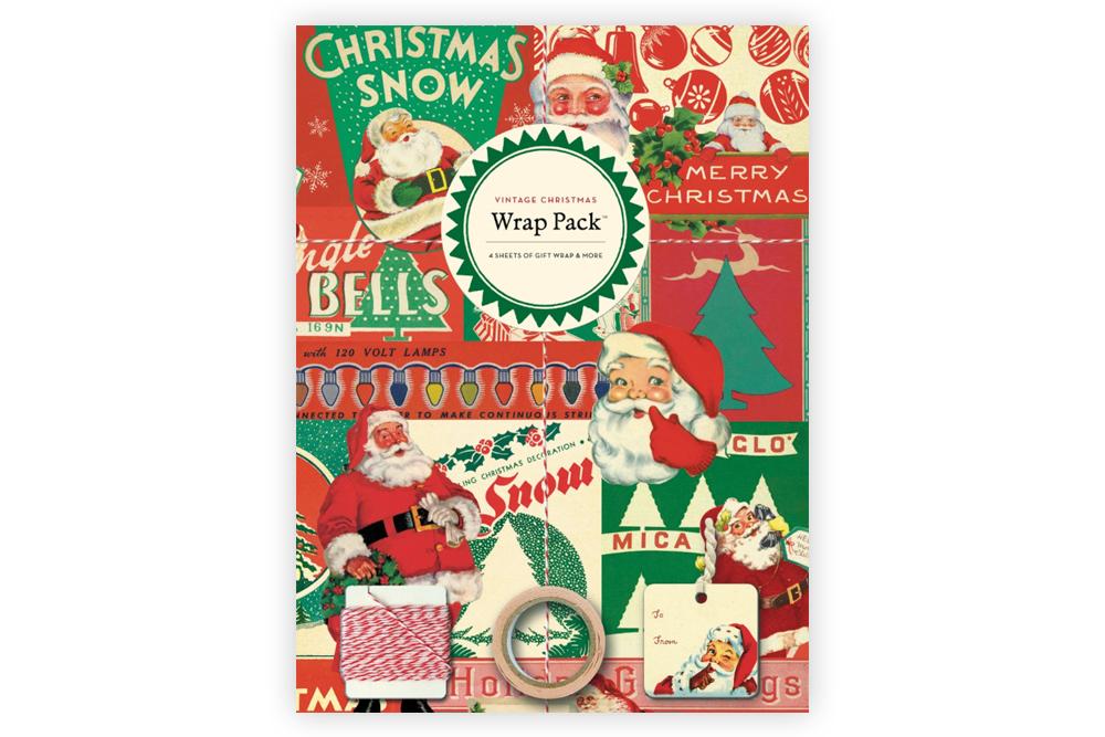 Vintage Christmas Bicycle Wrap Pack
