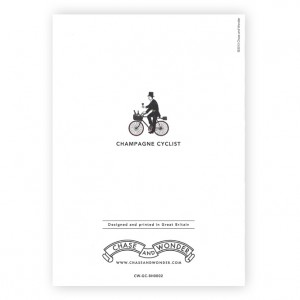 Champagne Cyclist Bicycle Greeting Card