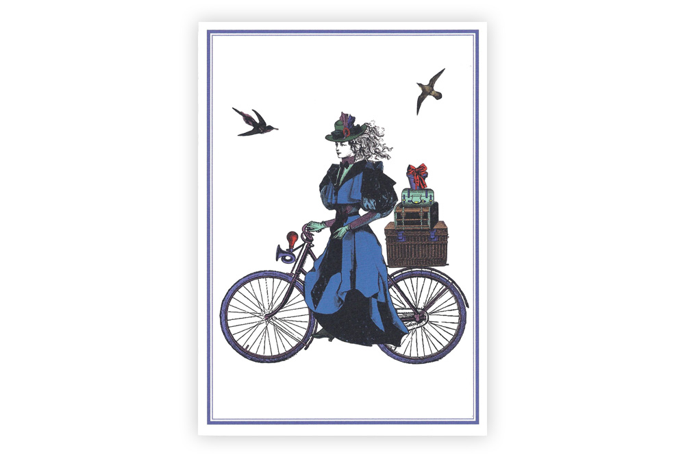 Gift Cyclist Bicycle Greeting Card