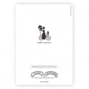Party Cyclist Bicycle Greeting Card