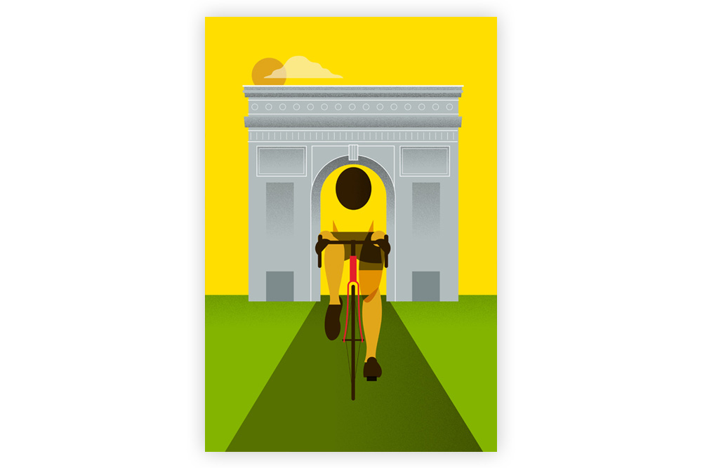 Le Tour – Arc de Triomphe Cycling Print by Eleanor Grosch