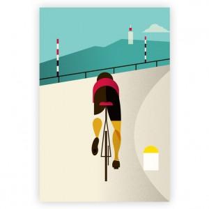 Le Tour - Mont Ventoux Cycling Print by Eleanor Grosch
