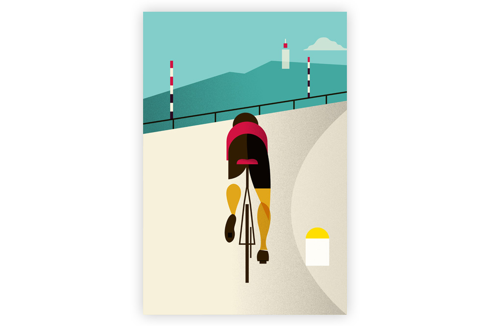 Le Tour – Mont Ventoux Cycling Print by Eleanor Grosch