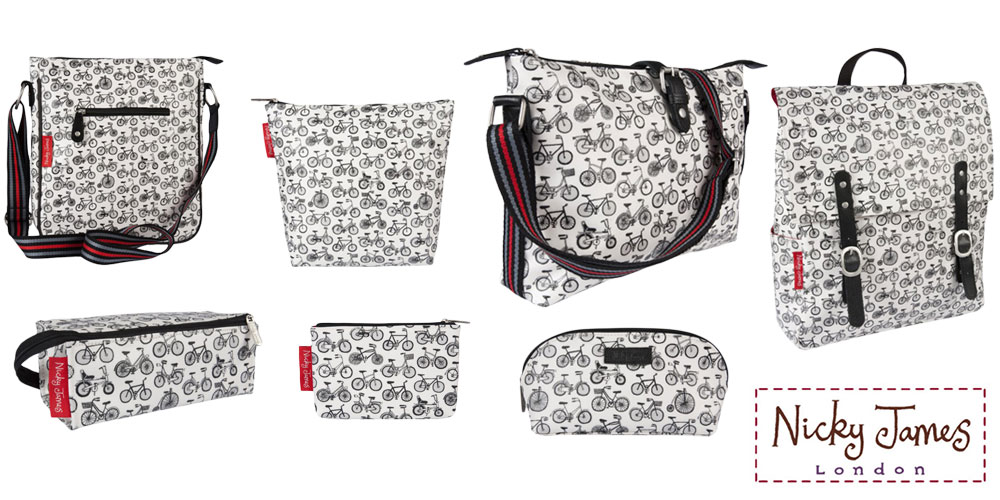 CycleMiles - Now stocking fabulous Nicky James Bicycle Bags