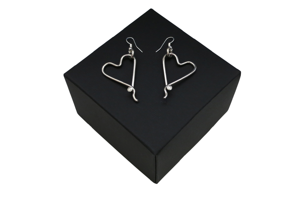Respoke Bicycle Jewellery Heart Earrings