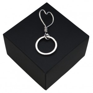 Respoke - Large Heart Keyring  - Cycling Jewellery