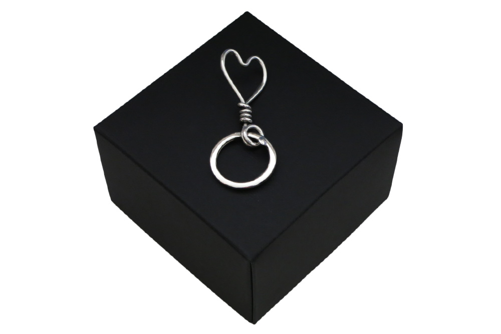Respoke Bicycle Jewellery Heart Keyring