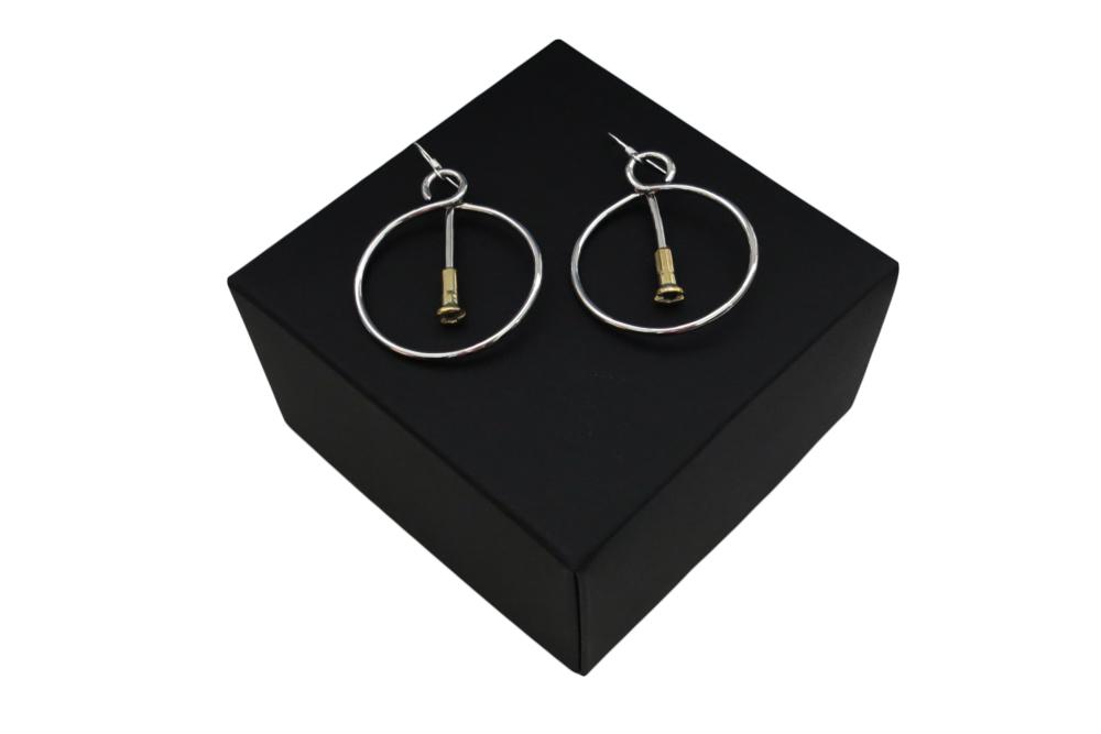 Respoke Bicycle Jewellery Spoke in a Wheel Earrings