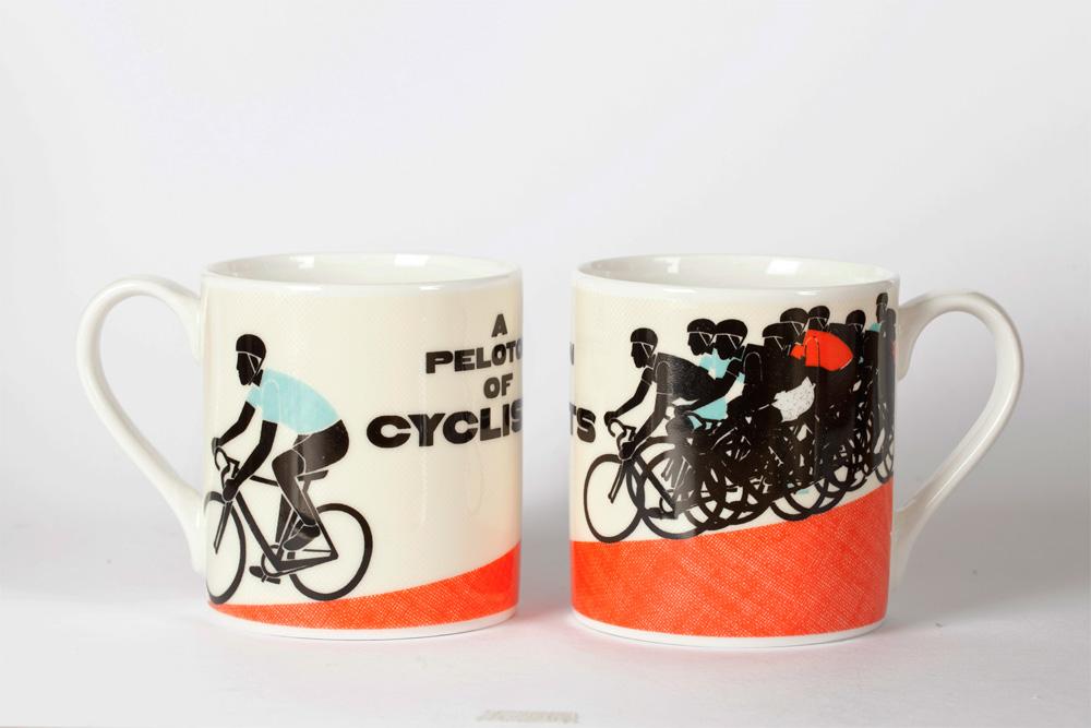 A Peloton of Cyclists Mug