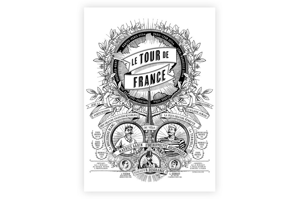 100 Revolutions - Tour de France Prints by Otto von Beach