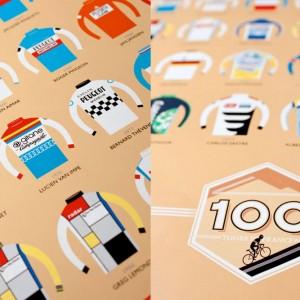 Tour de France 100 Litho Print by Beach-o-Matic