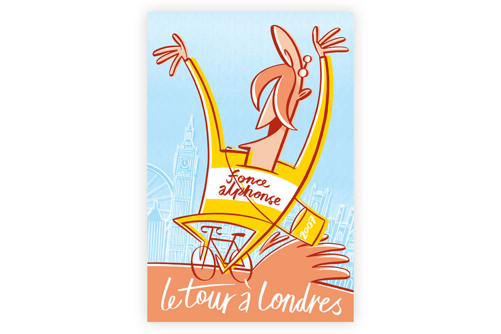 Le Tour a Londres Litho Print by Beach-O-Matic