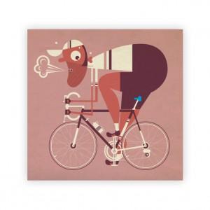 The Blue Saddle Cycling Print - Mick Marston