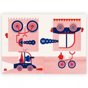 Road Rage Cycling Print - Mick Marston