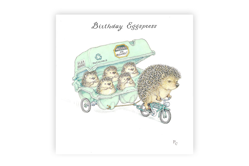 Birthday Eggspress Bicycle Greeting Card