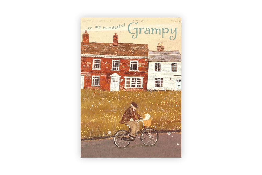 Grampy Bicycle Greeting Card