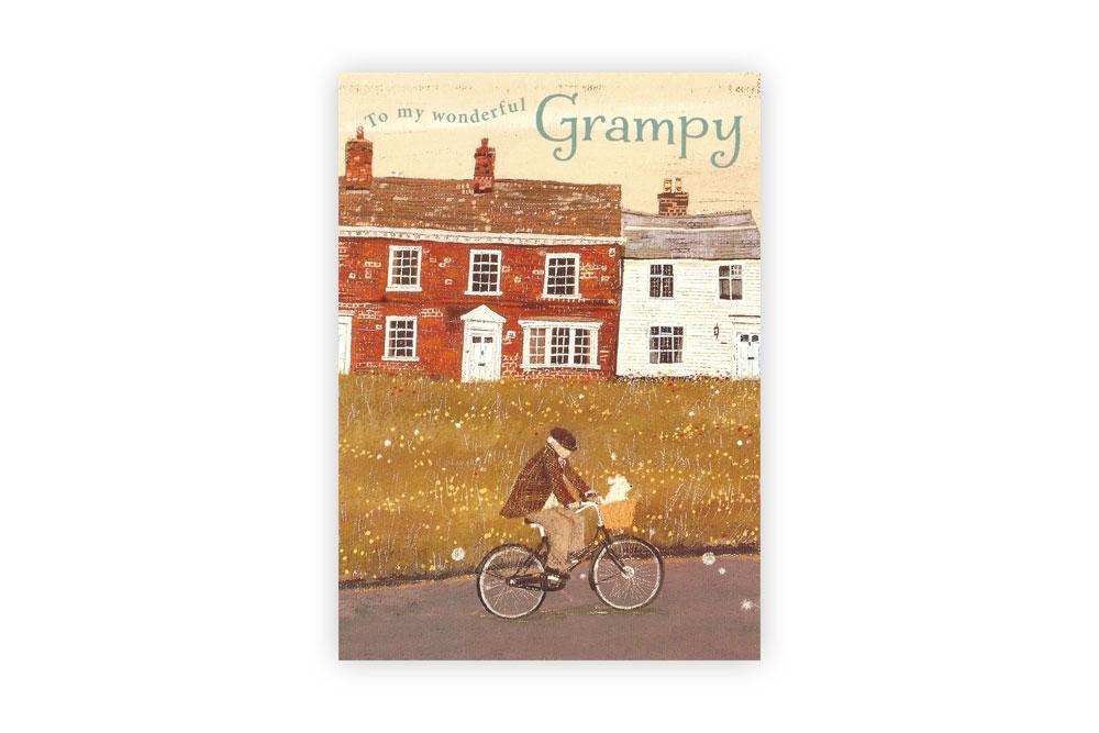 Grampy Bicycle Greeting Card