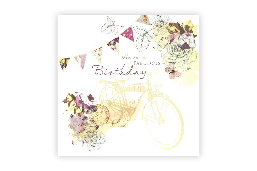 Have a Fabulous Birthday Bicycle Greeting Card