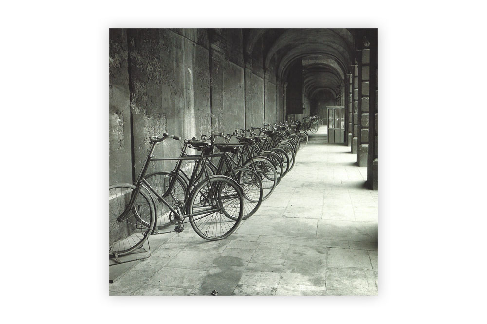 Queen's College in Oxford Bicycle Greeting Card