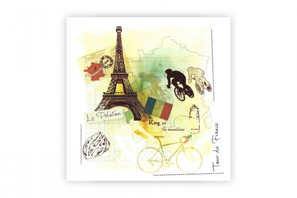 Tour De France Bicycle Birthday Card Cyclemiles