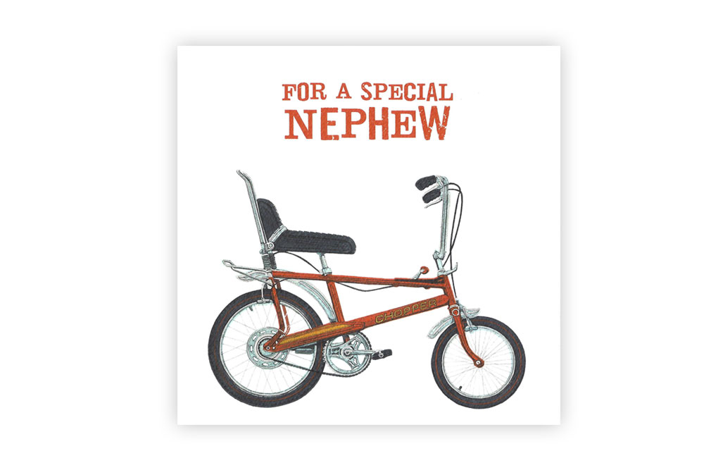 Special Nephew Bicycle Greeting Card