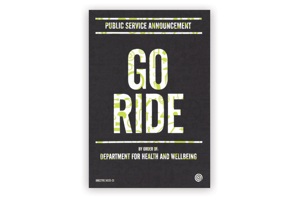 Go Ride Bicycle Greeting Card by Anthony Oram