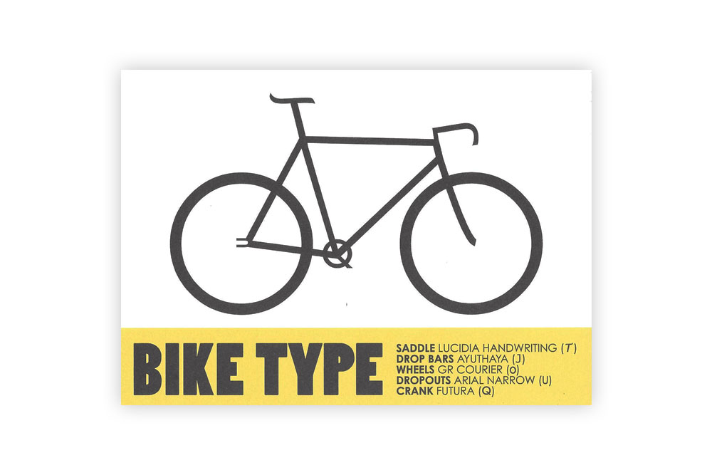 Bike Type Bicycle Greeting Card – Rebecca J Kaye