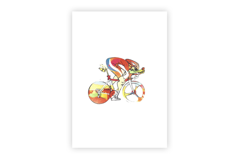Lone Racer 07 Bicycle Greeting Card – Simon Spilsbury