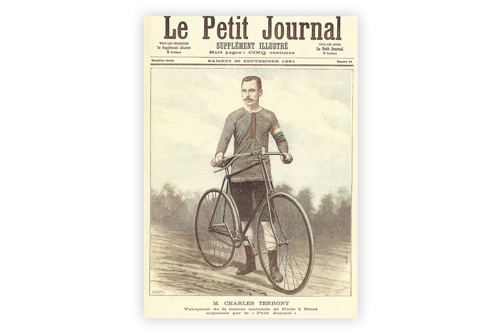 Charles Terront Bicycle Greeting Card