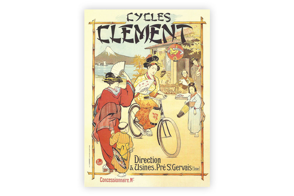 Cycles Clement Bicycle Greeting Card