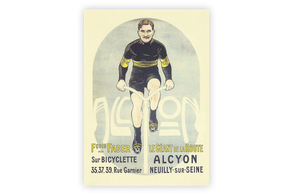 Alcyon Bicycle Greeting Card