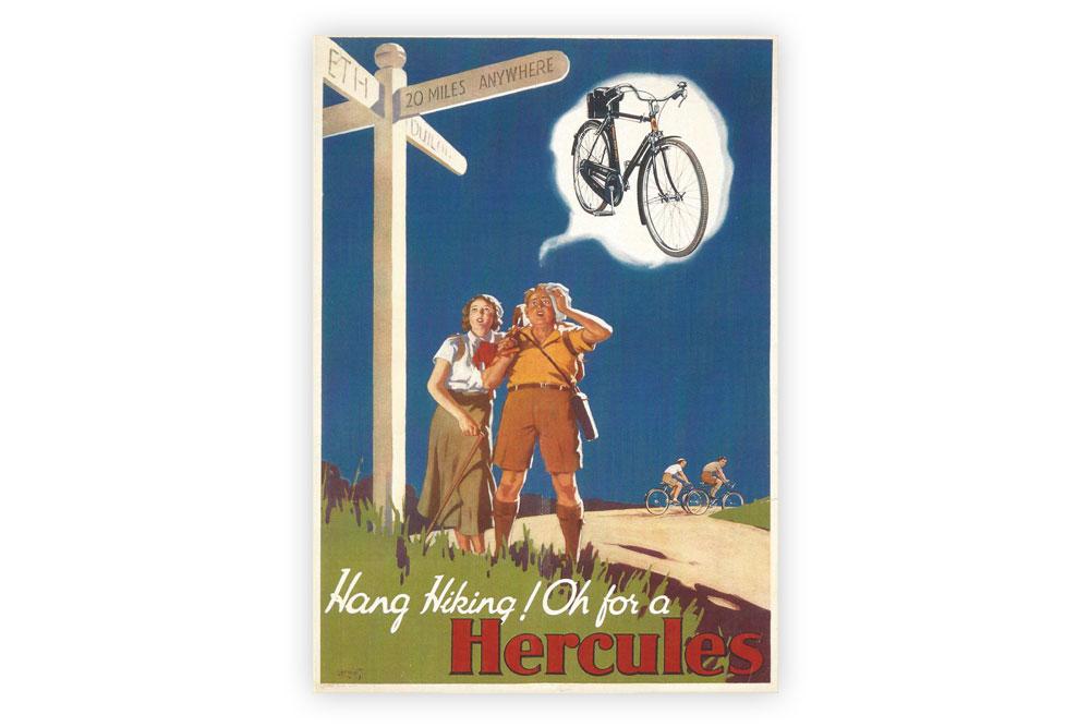 Hang Hiking Bicycle Greeting Card