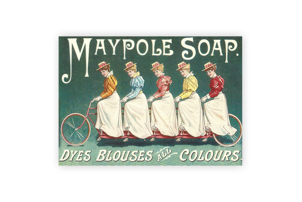 Maypole Soap Bicycle Greeting Card