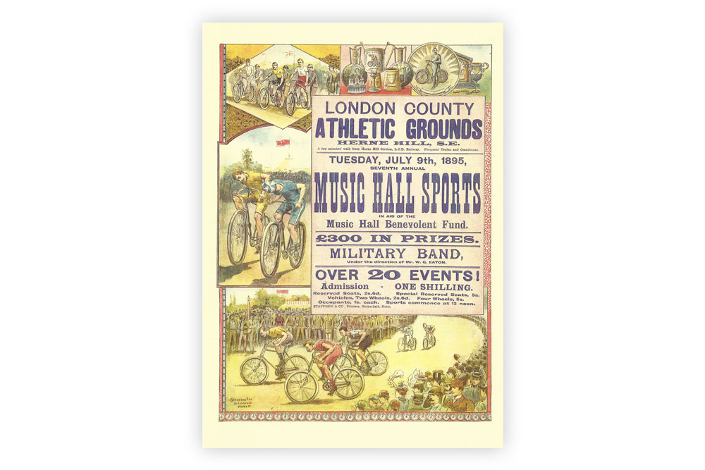 Music Hall Sports Bicycle Greeting Card