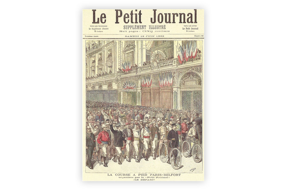Road Race Paris to Belfort Bicycle Greeting Card