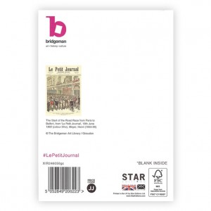 Road Race Paris to Belfort Bicycle Greeting Card