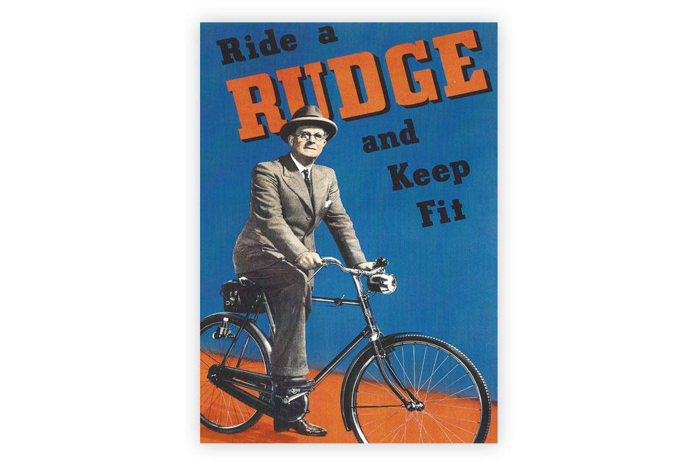 Ride a Rudge Bicycle Greeting Card