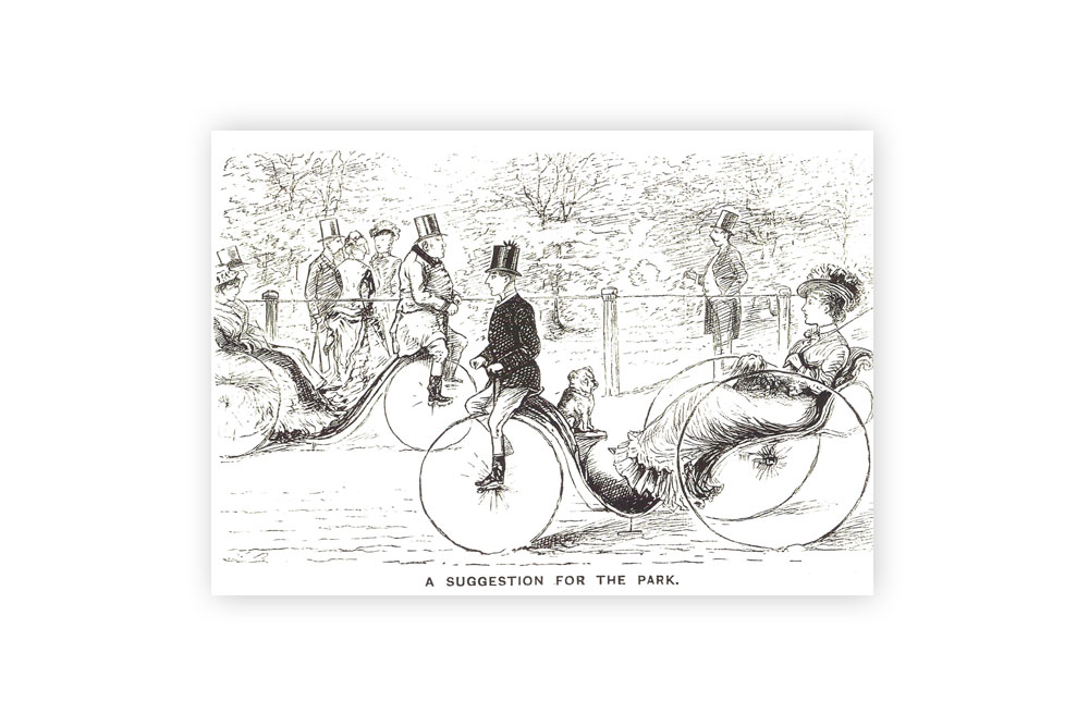 A Suggestion for the Park Bicycle Greeting Card