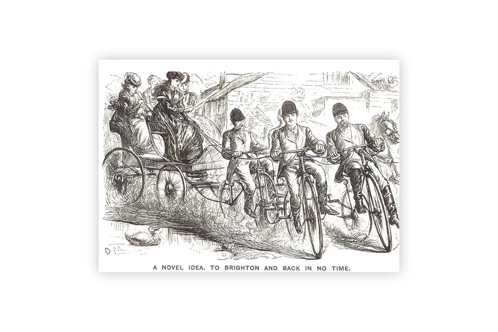 Travel to Brighton Bicycle Greeting Card