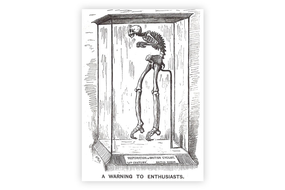 A Warning to Enthusiasts Bicycle Greeting Card