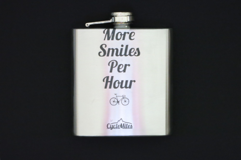 Bicycle Hip Flask – More Smiles per Hour – Mans Bicycle