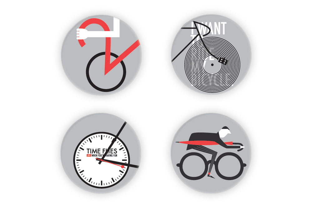 Classic Cycling Badge Pack – Rebecca J Kaye